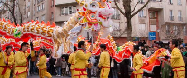 An Oriental ambience in Paris for the Chinese New Year